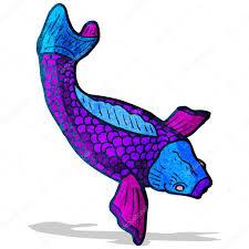 иллюстрация татуировка карп кои векторное изображение