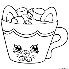 Petkins From Season 4 Coloring Pages Printable Shopkins Coloring