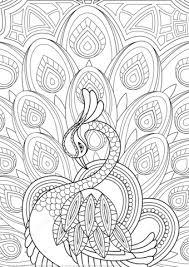 Zentangle Pauw Met Versiering Kleurplaat Gratis Kleurplaten Printen