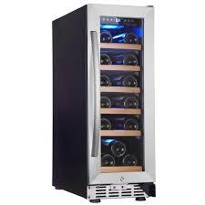 eurodib usf18s single section single temperature full glass door wine refrigerator