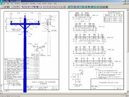 pls pole page power 24 9 14 4kv rus 3 phase structure rus cad drawings overlayed in background