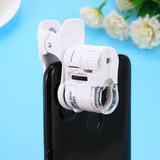 Lumagny Lighted Microscope 60x Mobile Phone Microscope Macro Lens Zoom Micro Camera Clip With Led Light Hot Lumagny Illuminated Magnifying Glass Magnifying Glass Dome From