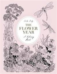 coloring book flower. Brilliant Coloring The Flower Year A Coloring Book To