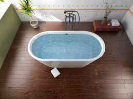 Hardwood Floor In A Bathroom  Coswick