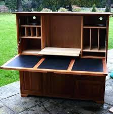 aston solid oak hidden. Computer Hideaway Desk White . Aston Solid Oak Hidden M
