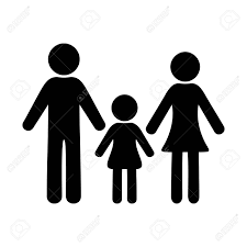 Simple Family Black Simple Family Icon With One Girl Royalty Free Cliparts