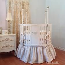 posh round crib baby bedding by little
