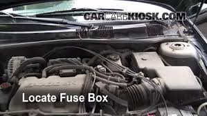 replace a fuse oldsmobile alero oldsmobile alero locate engine fuse box and remove cover