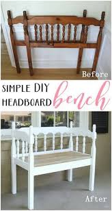diy furniture makeovers diy headboard bench