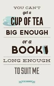 Cs Lewis Quote About Books And Tea Book Lovers Art Print Cs Lewis