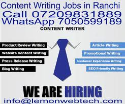 content writer jobs in ranchi software development company content writer jobs in ranchi