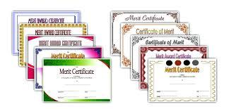 Merit Certificate Sample Gorgeous Merit Certificate Templates Template Award Gocreatorco