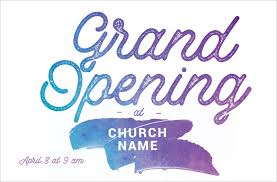 Grand Opening Postcards Grand Opening Paint Postcard Church Postcards Outreach Marketing