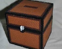 minecraft perler minecraft inspired perler bead coin box chest