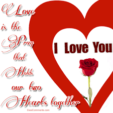 love is the pray that holds our two hearts together