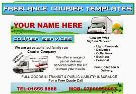 Freelance Courier Leafletsflyerbusiness Cards Business Start Up