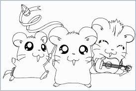 Kleurplaten Cute Hamster