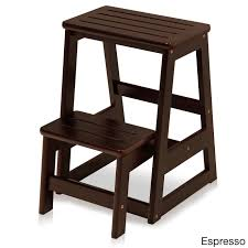 Solid Wood Folding Step Stool - Free Shipping Today - Overstock.com -  17573079