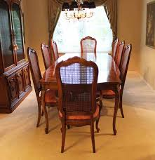 antique cane dining room chairs. thomasville dining room set with cane back chairs antique e