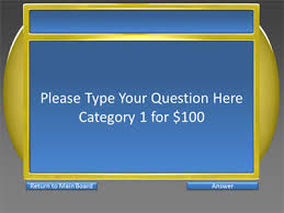 Powerpoint Game Show Template 5 Category Question Game Show A Powerpoint Template From