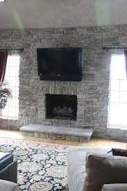 Stone Fireplaces With TVs - North Star Stone