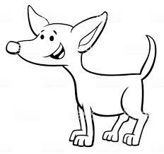 面白い子犬アニメ キャラクター塗り絵 お絵かきのベクターアート素材や