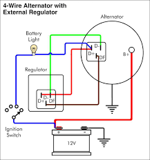 alternator wiring diagram wiring diagram wiring diagram of car alternator car alternator wiring diagram delco gm 2 wire to 4 10si cs130 on