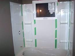 tub shower wall options one piece walls showers and surround how to install a bath throughout