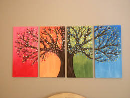 DIY canvas painting of tree