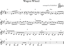 wagon wheel sheet music wagon wheel fiddlehed