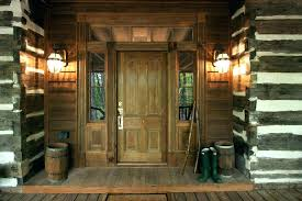 outdoor front door lights rustic porch wooden entry with exterior light intended for rustic exterior lights63