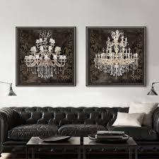 modern still life painting canvas art crystal chandelier pattern