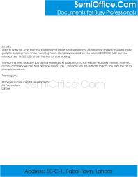 How To Write A Warning Letter To An Employee Employee Warning Letter Sample