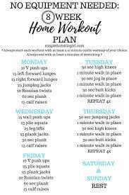 8 Week Home Workout Plan At Home Workout Plan Step