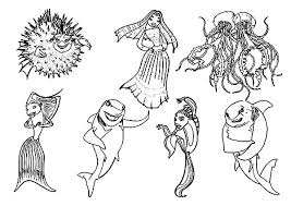 Small Picture All Characters from Shark Tale Film Coloring Pages Batch Coloring