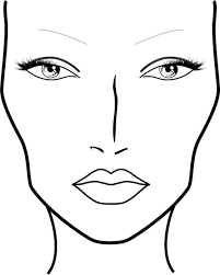 Free Printable Face Charts For Makeup Artists Blank Makeup Face Charts Free Lajoshrich Com