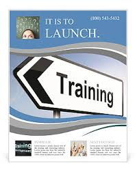 Training Flyer Templates Free Illustration Depicting A Sign Post With Directional Arrow Containing A Training Concept Blurred Bac Flyer Template