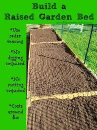 build raised beds from cedar fencing