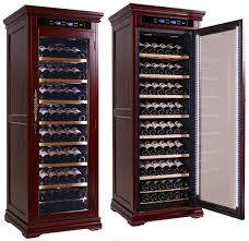 wine cooler cabinet. Exellent Cabinet The Rochester Wine Cooler Cabinet Cherry Wood Prestige Imports 146 Bottles   Elegant Bar And B