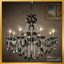 black amp clear crystal pendant lamp hanging chandelier pertaining to amazing home black crystal chandelier prepare
