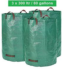 garden bags. Glorytec 3 X Garden Bags 80 Gallons | Collapsible And Reusable Gardening Containers Large E