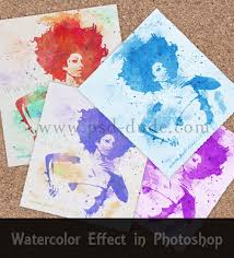 Photoshop Watercolor Filter Create A Watercolor Effect In Photoshop Photoshop