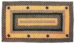 primitive braided rugs primitive area rugs local braided rug image detail for barn star black country