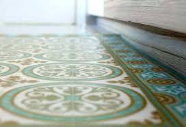 linoleum area rugs tiles pattern decorative vinyl mat linoleum rug color turquoise and ocher rug make