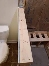 capping knee wall and shower threshold