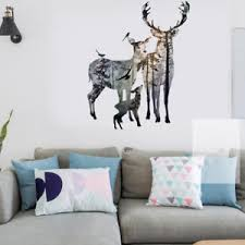 Image is loading removable-deer-forest-wall-stickers-decals-art-mural- & removable deer forest wall stickers decals art mural vinyl home room ... www.pureclipart.com