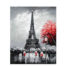 Malování Podle čísel Eiffelova Věž Poštovnézdarmacz