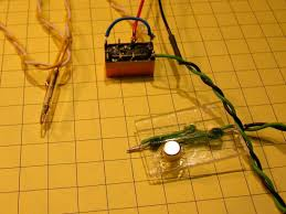 garden railway sensors revised 2 the circuit we used before by simply substituting reed switches for micro switches here are two photos of the test circuit and the two reed switches