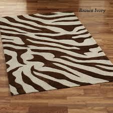best brown ivory zebra rugs for floor decor idea