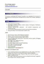 freshers resume model. sap abap fresher resume sample ...